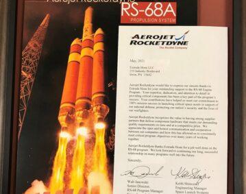 「Aerojet Rocketdyne」 からの感謝